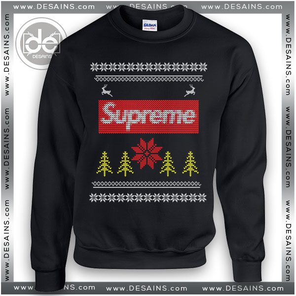dc8177344da4 Best Ugly Christmas Shirt Ideas Supreme Logo Sweater Review