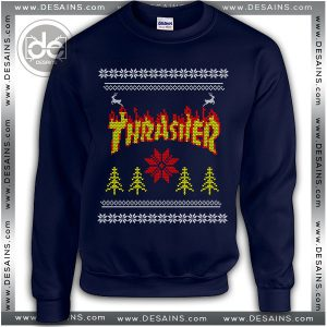Best Ugly Christmas Sweater Thrasher Magazine Logo Review