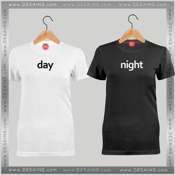 Cheap couples tee shirt day night custom tshirt funny for Budget custom t shirts