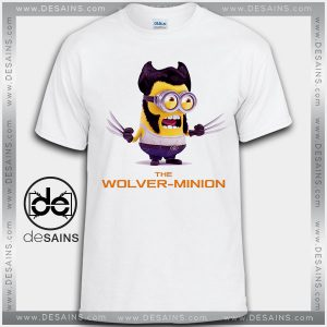 Cheap Graphic Tee Shirts Minions Wolverine Tshirt Kids and Adult