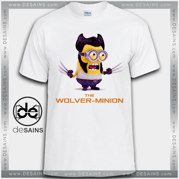 15a3b2ffd Cheap Graphic Tee Shirts Minions Wolverine Tshirt Kids and Adult