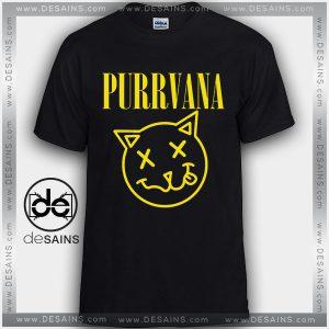 Cheap Graphic Tee Shirts Purrvana Kitty Nirvana On Sale