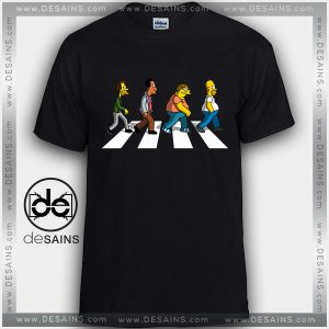 Cheap Graphic Tee Shirts Simpsons Abbey Road Tshirt Kids and Adult