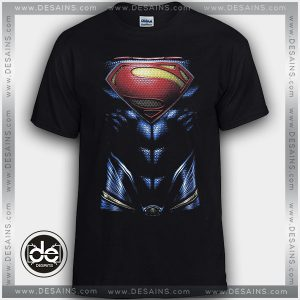 Cheap Graphic Tee Shirts Superman Body Logo on Sale