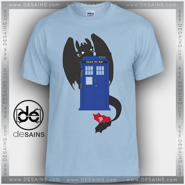 Cheap Graphic Tee Shirts Toothless Dragon Tardis Tshirt Kids and Adult
