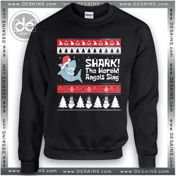cheap ugly christmas sweater shark tacky sweatshirt on sale - Shark Christmas Sweater