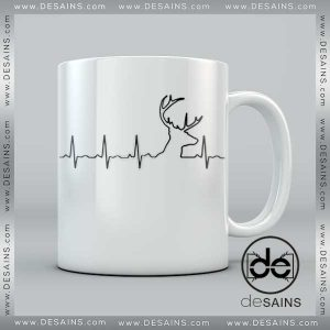 Cheap Coffee Mugs Deer Hunting Heartbeat on Sale