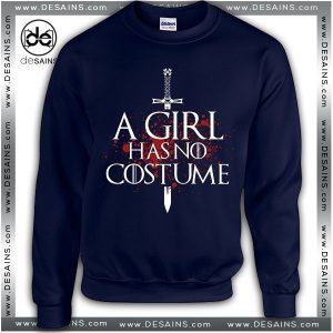 Cheap Graphic Sweatshirt A Girl Has No Costume Sweater Unisex