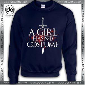 Cheap Graphic Sweatshirt A Girl Has No Costume Sweater Unisex