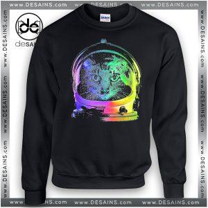 Cheap Graphic Sweatshirt Astronaut Cat NASA Crewneck
