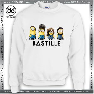 Cheap Graphic Sweatshirt Bastille Band Minions Crewneck Sweater