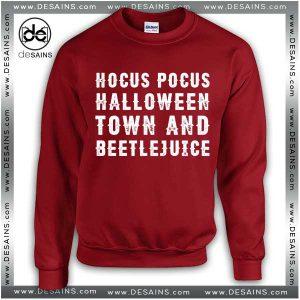 Cheap Graphic Sweatshirt Hocus Pocus Halloweentown and Beetlejuice