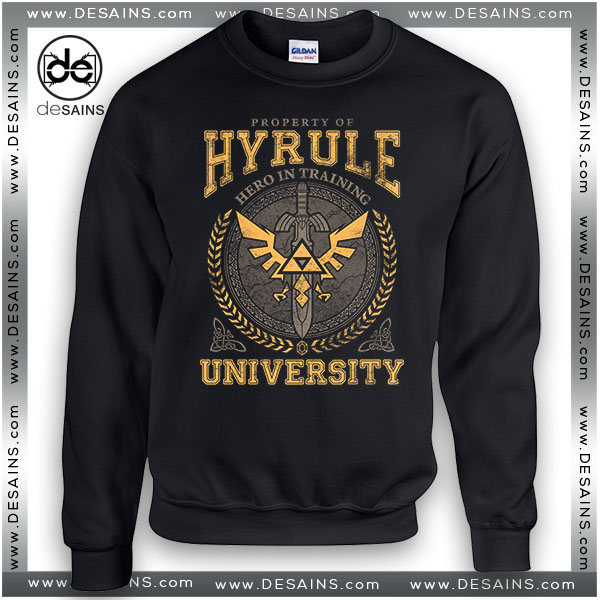 Cheap Graphic Sweatshirt Hyrule Warriors University on Sale