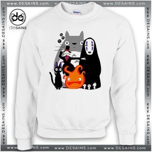 Cheap Graphic Sweatshirt Studio Ghibli Movies Crewneck Sweater