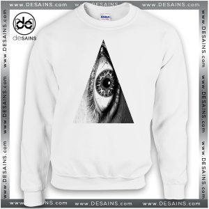 Cheap Graphic Sweatshirt Triangle Eye hipster indie Illuminati Symbol