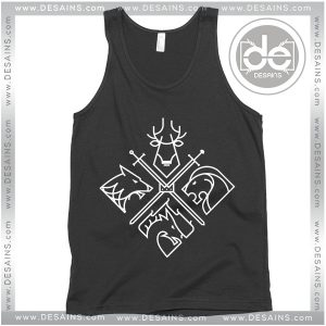 Cheap Graphic Tank Top Game of Thrones Minimal Thrones
