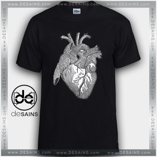 Cheap Graphic Tee Shirts Anatomical Heart On Sale
