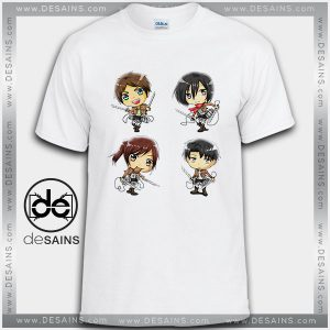 Cheap Graphic Tee Shirts Attack on Titan Characters On Sale