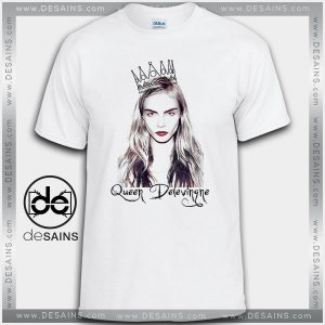Cheap Graphic Tee Shirts Cara Delevingne Queen Tshirt On Sale