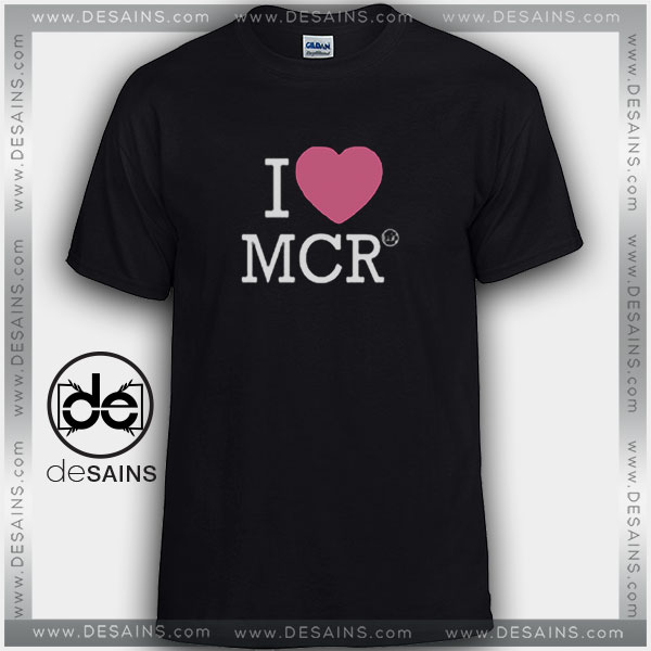 Cheap Graphic Tee Shirts I Love Manchester MCR on sale