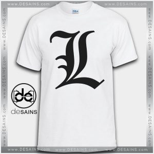 Cheap Graphic Tee Shirts L Death Note logo Tshirt On Sale