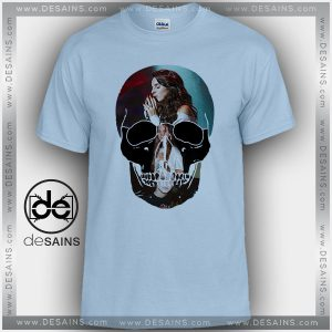 Cheap Graphic Tee Shirts Lana Del Rey Skull On Sale