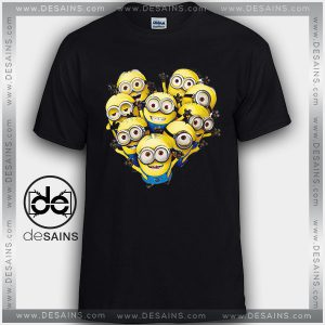 Cheap Graphic Tee Shirts Minions Characters Tshirt Kids and Adult