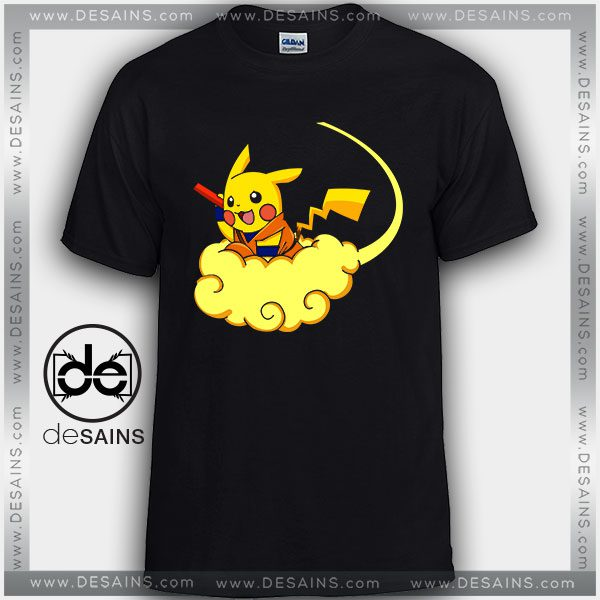 Cheap Graphic Tee Shirts Pikachu Dragon Ball Tshirt Kids and Adult