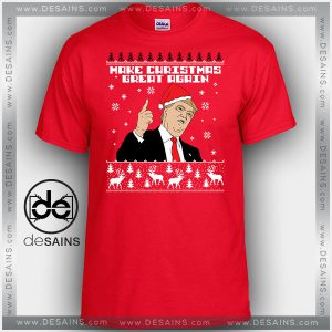 Cheap Graphic Tee Shirts Trump Make Christmas Great Again