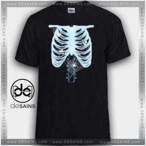 Cheap Graphic Tee Shirts X-Ray Skull Halloween Tshirt On Sale