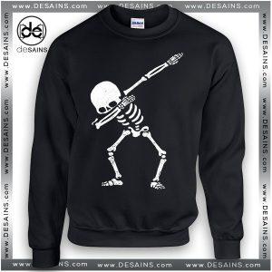 Simple Halloween Costume Ideas Sweatshirt Dabbing Skull Funny