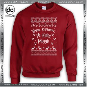 Best Graphic Sweatshirt Harry Potter Ya Filthy Muggle Christmas Sweater