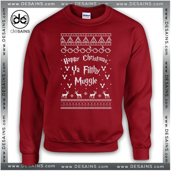 8711b6825 Best Graphic Sweatshirt Harry Potter Ya Filthy Muggle Christmas Sweater