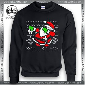 Best Ugly Sweatshirt Christmas Dabbing Santa Sweater Size S-3XL