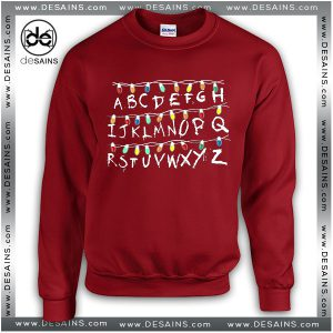 Best Ugly Sweatshirt Christmas Lights Alphabet Stranger Thing