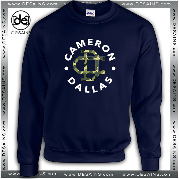Cheap Graphic Sweatshirt Cameron Dallas Army Logo