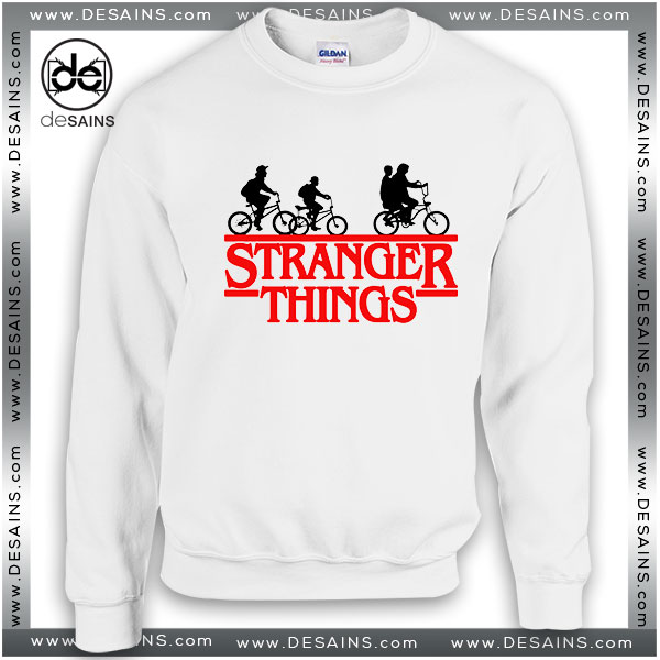 Cheap Graphic Sweatshirt Stranger Things Bikes Sweater Movie