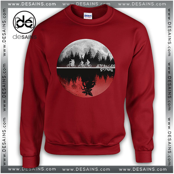 Cheap Graphic Sweatshirt Stranger Things Moon Upside Down