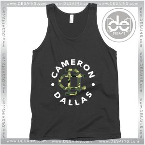 Cheap Graphic Tank Top Cameron Dallas Army Magcon