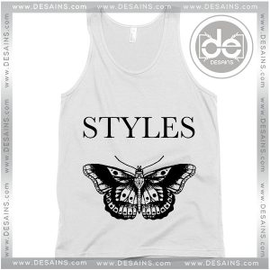 Cheap Graphic Tank Top Harry Styles Butterfly Tattoos