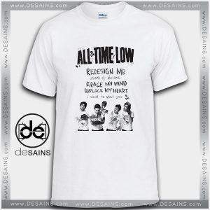 Cheap Graphic Tee Shirts All Time Low Art of the State Lyrics
