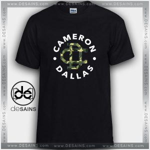Cheap Graphic Tee Shirts Cameron Dallas Army Logo Tshirt on Sale