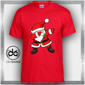 Cheap Graphic Tee Shirts Dabbing Santa Claus Christmas On Sale