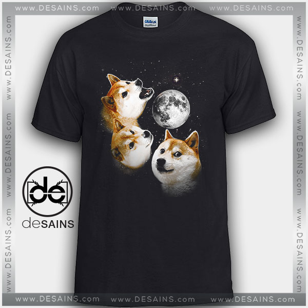 Cheap Graphic Tee Shirts Doge Moon Tshirt on Sale