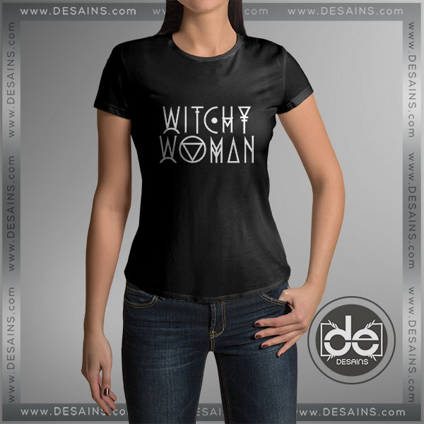 Cheap Graphic Tee Shirts Eagles Lyrics Witchy Woman Tshirt on sale