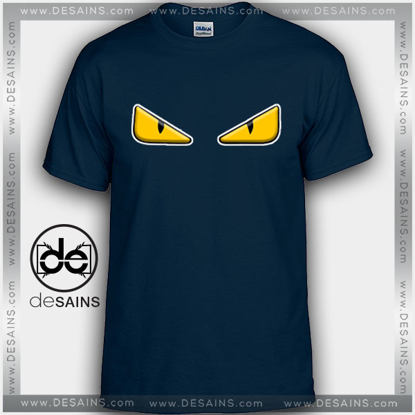 Cheap Graphic Tee Shirts Fendi Eyes Logo Tshirt On Sale