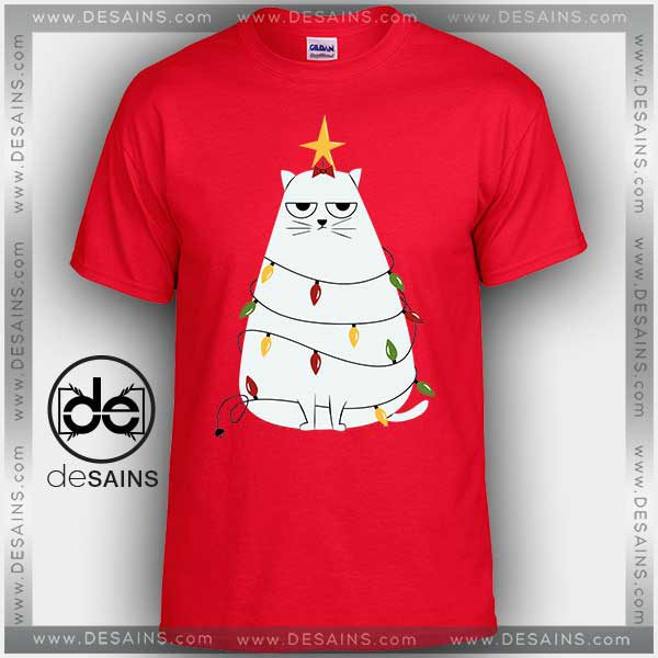 0bdcbdb3c9 Cheap Graphic Tee Shirts Grumpy Christmas Cat Tshirt Size S-3XL
