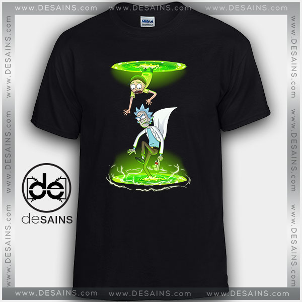 Cheap Graphic Tee Shirts Rick and Morty Portals Tshirt Size S-3XL