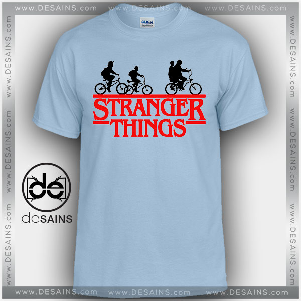 Cheap Graphic Tee Shirts Stranger Things Bikes Tshirt on Sale