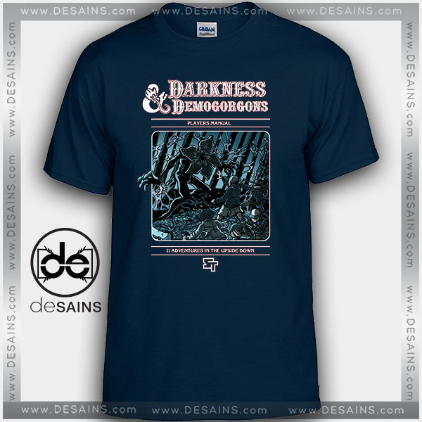 Cheap Graphic Tee Shirts Stranger Things Darkness and Demogorgons